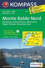 KOMPASS Wanderkarte Monte Baldo Nord