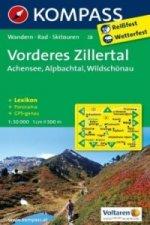 Kompass Karte Vorderes Zillertal, Achensee, Alpbachtal, Wildschönau