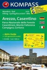 KOMPASS Wanderkarte Arezzo - Casentino - Parco Nazionale delle Foreste Casentinesi - Monte Falterona - Campigna