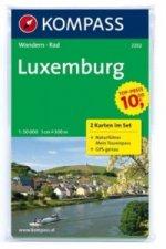 KOMPASS Wanderkarte Luxemburg