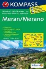 Kompass Karte Meran. Merano