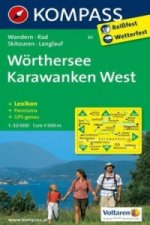 Kompass Karte Wörthersee, Karawanken West