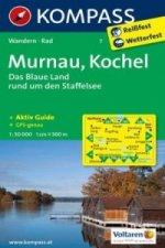 KOMPASS Wanderkarte Murnau - Kochel - Das blaue Land rund um den Staffelsee
