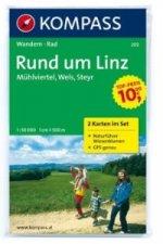 Kompass Karte Linz und Umgebung, 2 Bl. m. Kompass Naturführer Wiesenblumen