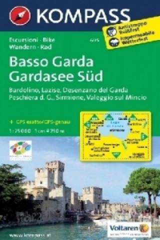 KOMPASS Wanderkarte Gardasee Süd, Basso Garda