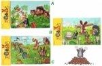 Pěnové puzzle Krtek 12 dílků/3 motivy