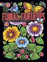 Floral Fantasies Stained Glass Coloring Book