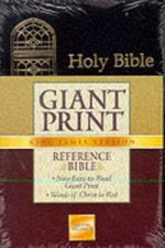 KJV, Holy Bible, Giant Print, Imitation Leather, Black, Red Letter Edition