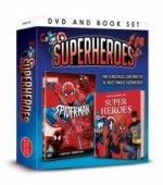 Superheroes Dvd Book Gift Set