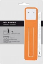 Moleskine LED-Leseleuchte mit USB-Ladeadapter orange