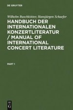 Handbuch der internationalen Konzertliteratur, 2 Bde.. Manual of International Concert Literature, 2 Vol.