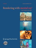 Rendering with mental ray, w. CD-ROM