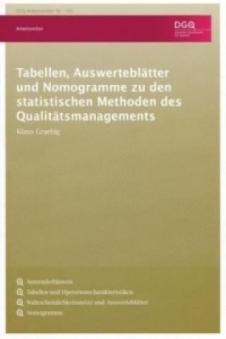Tabellen, Auswerteblätter und Nomogramme zu den statistischen Methoden des Qualitätsmanagements