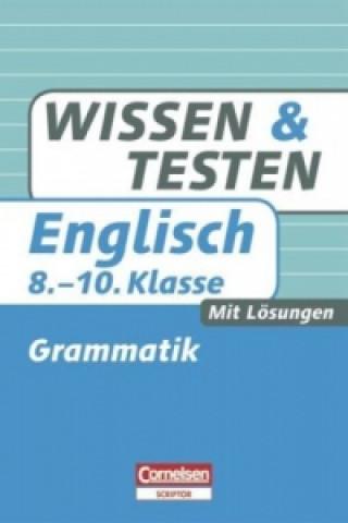 Englisch, 8.-10. Klasse, Grammatik