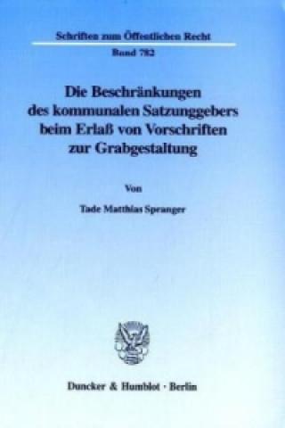 Die Beschränkungen des kommunalen Satzungsgebers beim Erlaß von Vorschriften zur Grabgestaltung.