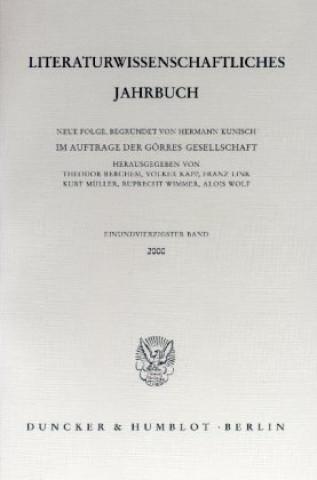 Literaturwissenschaftliches Jahrbuch.. Bd.41/2000