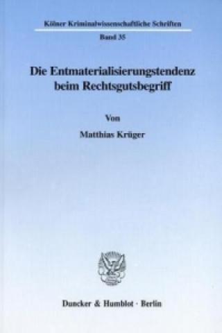 Die Entmaterialisierungstendenz beim Rechtsgutsbegriff.
