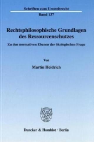 Rechtsphilosophische Grundlagen des Ressourcenschutzes.