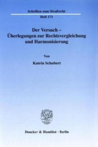 Der Versuch - Überlegungen zur Rechtsvergleichung und Harmonisierung.
