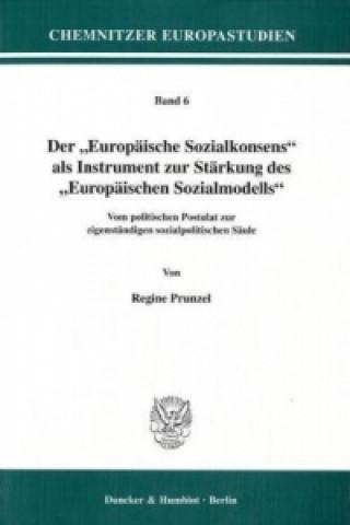 Der Europäische Sozialkonsens als Instrument zur Stärkung des Europäischen Sozialmodells.