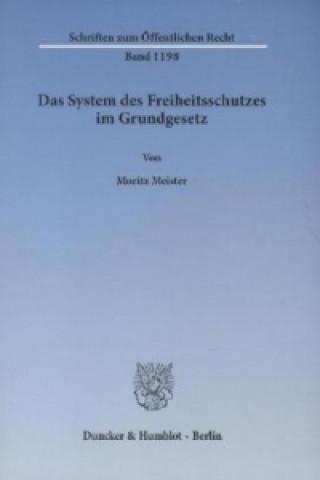 Das System des Freiheitsschutzes im Grundgesetz.