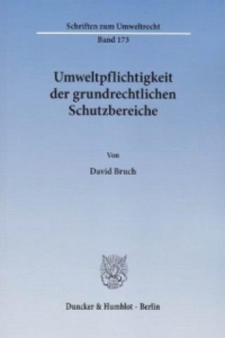 Umweltpflichtigkeit der grundrechtlichen Schutzbereiche.