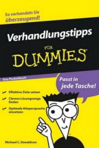 Verhandlungstipps fur Dummies Das Pocketbuch