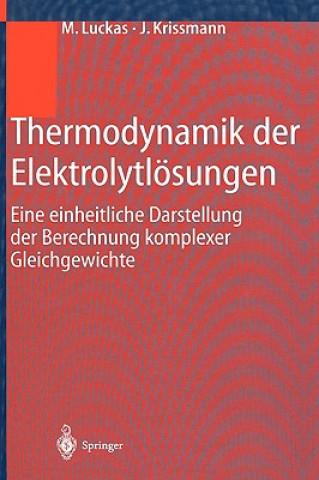 Thermodynamik Der Elektrolytloesungen