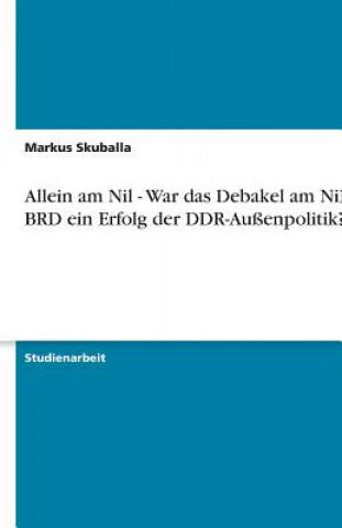 Allein am Nil - War das Debakel am Nil der BRD ein Erfolg der DDR-Außenpolitik?