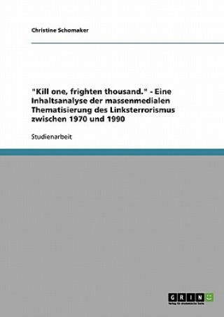 Kill one, frighten thousand. - Eine Inhaltsanalyse der massenmedialen Thematisierung des Linksterrorismus zwischen 1970 und 1990