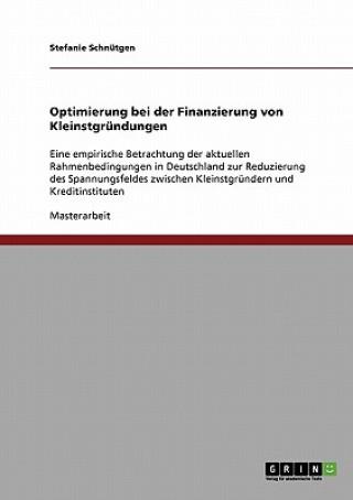 Optimierung bei der Finanzierung von Kleinstgrundungen
