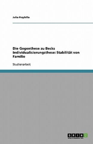 Die Gegenthese zu Becks Individualisierungsthese: Stabilität von Familie