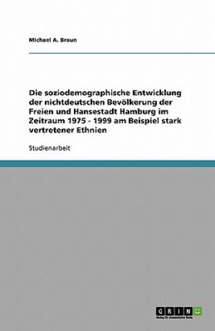 Soziodemographische Entwicklung Der Nichtdeutschen Bev lkerung Der Freien Und Hansestadt Hamburg Im Zeitraum 1975 - 1999 Am Beispiel Stark Vertretener