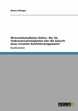 Wirtschaftsmediation Online - Nur fur Verbraucherstreitigkeiten oder die Zukunft eines virtuellen Konfliktmanagements?