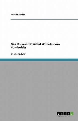 Universitatsideal Wilhelm von Humboldts