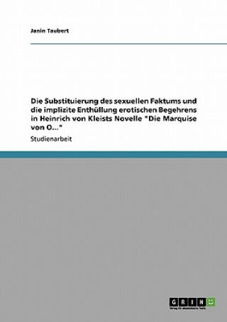 Die Substituierung des sexuellen Faktums und die implizite Enthüllung erotischen Begehrens in Heinrich von Kleists Novelle Die Marquise von O
