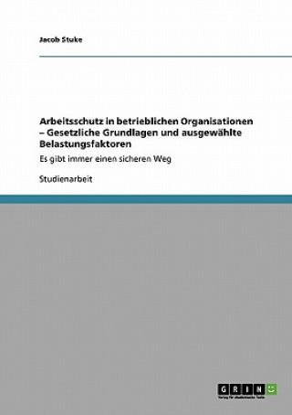 Arbeitsschutz in betrieblichen Organisationen - Gesetzliche Grundlagen und ausgewahlte Belastungsfaktoren