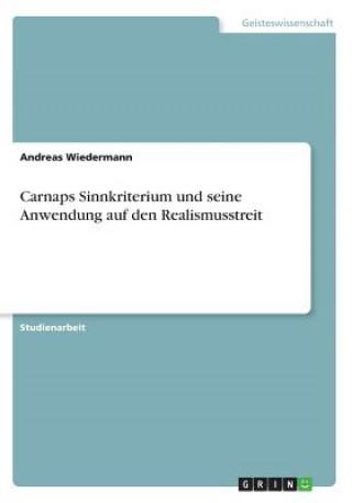 Carnaps Sinnkriterium und seine Anwendung auf den Realismusstreit