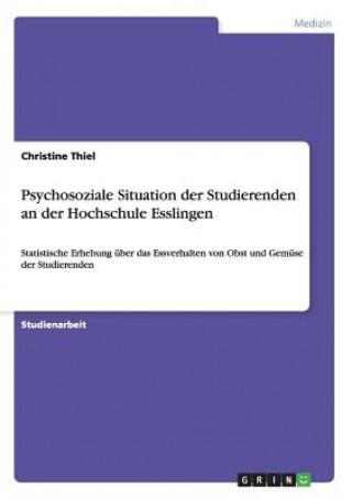 Psychosoziale Situation der Studierenden an der Hochschule Esslingen