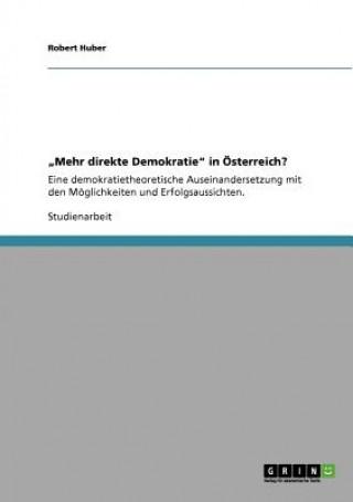 Mehr direkte Demokratie in OEsterreich?