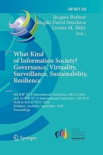 What Kind of Information Society? Governance, Virtuality, Surveillance, Sustainability, Resilience
