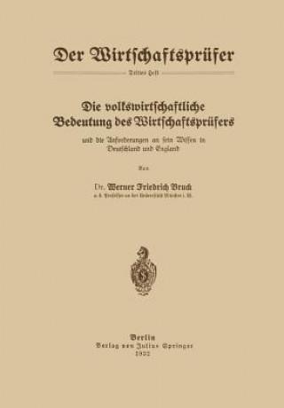 Volkswirtschaftliche Bedeutung Des Wirtschaftspr fers Und Die Anforderungen an Sein Wissen in Deutschland Und England