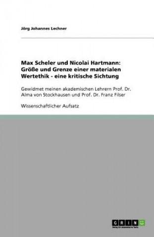 Max Scheler und Nicolai Hartmann