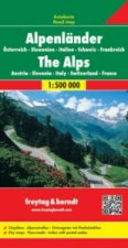 Alps (A, Ch, F, I, Slo) Road Map 1:500 000