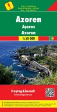 Azores, Special Places of Excursion Road Map 1:50 000