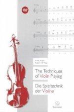 Die Spieltechnik der Violine. The Techniques of Violin Playing, m. DVD