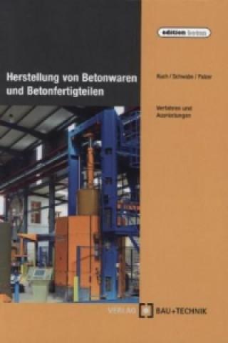 Herstellung von Betonwaren und Betonfertigteilen