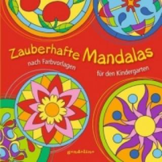 Zauberhafte Mandalas nach Farbvorlagen für den Kindergarten