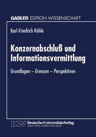 Konzernabschlu  Und Informationsvermittlung