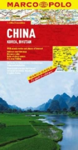 ČÍNA, KOREA, BHUTAN 1:4 000 000